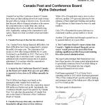 Canada Post and Conference Board Myths Debunked